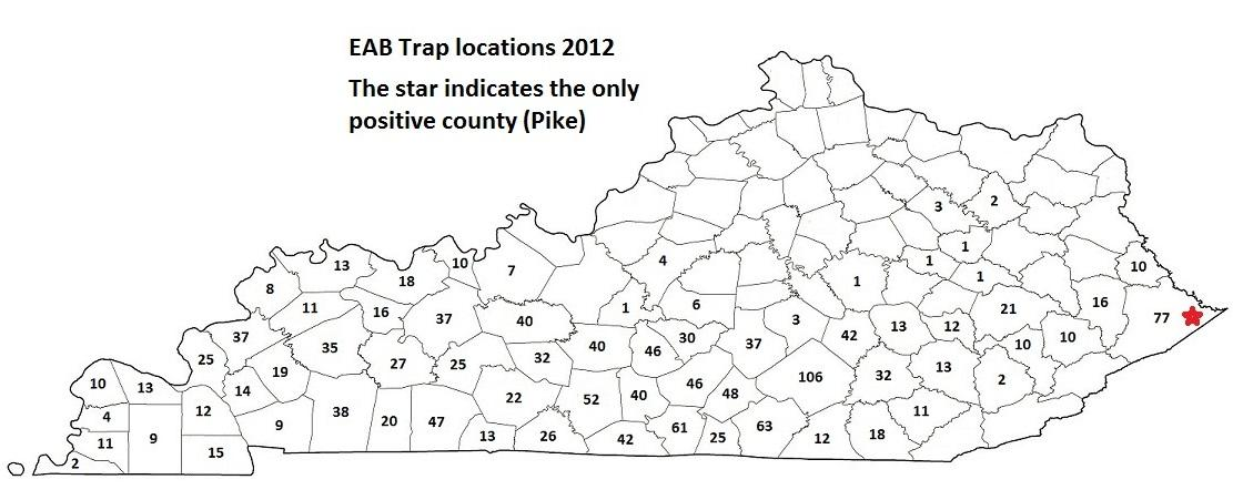 EAB Trap Locations 2012