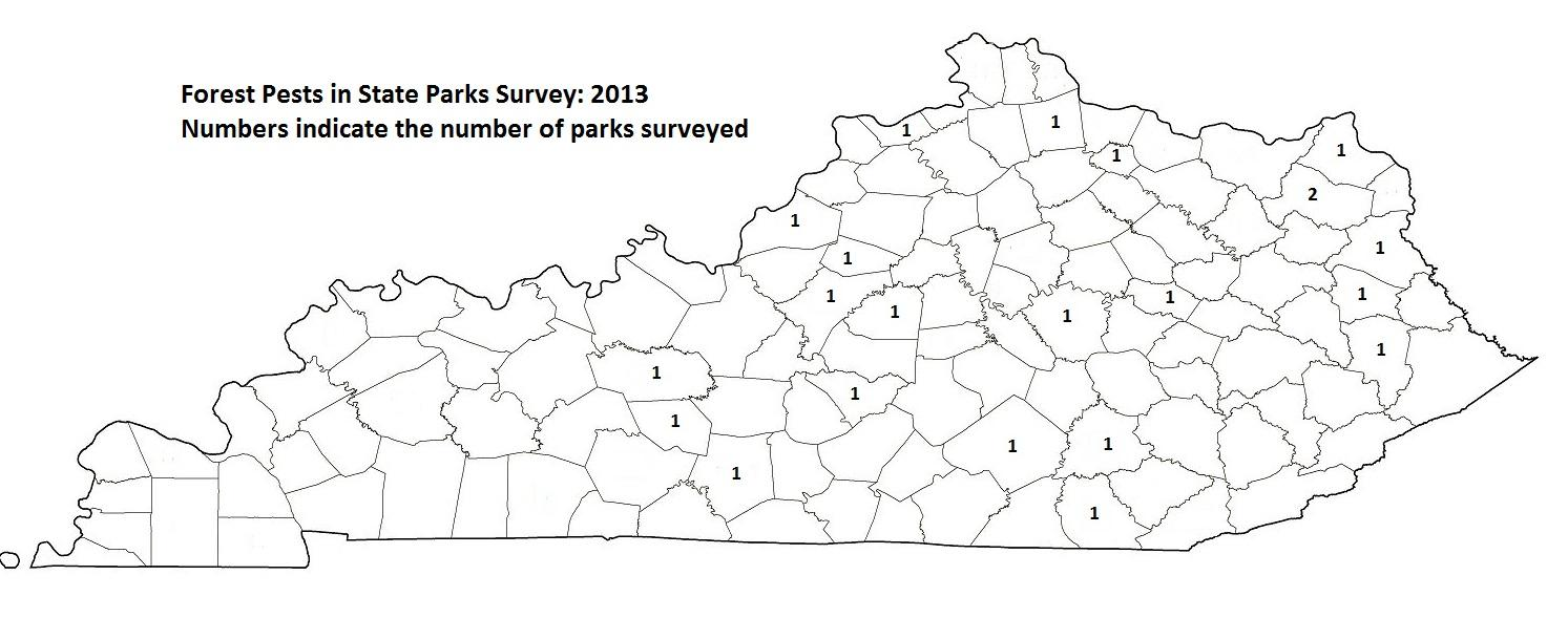 Forest Pests in State Parks 2013