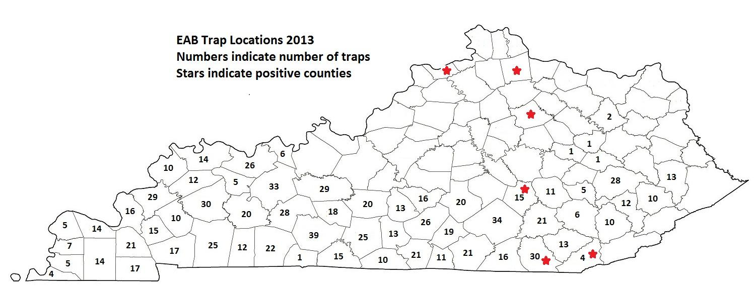 EAB Trap Locations 2013